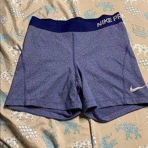 Blue Nike Pro Spandex